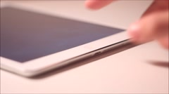 iPad Home Button Press - stock footage
