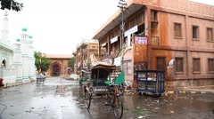 A center shot of a rickshaw in Rajasthan India Stock Footage