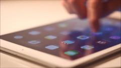 Swiping on an iPad - Multiple Angles Stock Footage