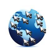 global communication concept illustration design over a white background - stock illustration