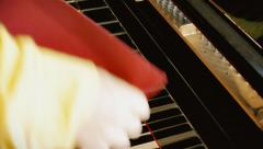 Piano cover close editorial Stock Footage