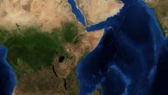 East Africa from space zoom Stock Footage