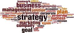 strategy word cloud - stock illustration