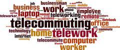 Stock Illustration of telework word cloud