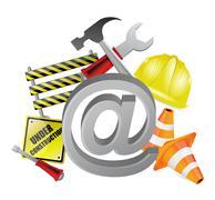 online under construction illustration design - stock illustration