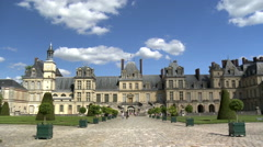 Chateau de Fontainebleau - Paris France Stock Footage