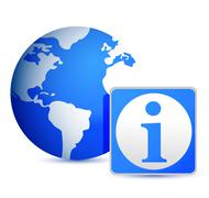 globe info illustration design - stock illustration