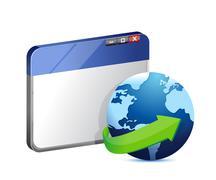 Stock Illustration of internet browser concept illustration design over white