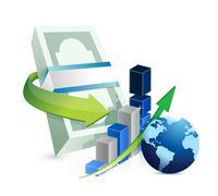 international business concept illustration design over a white background - stock illustration