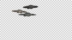 Starship Fly Over With Alpha Channel Stock Footage
