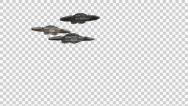 Stock Video Footage of Starship Fly Over With Alpha Channel