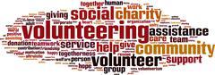 Volunteering word cloud Stock Illustration