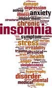 Insomnia word cloud Stock Illustration