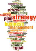 Stock Illustration of strategy word cloud
