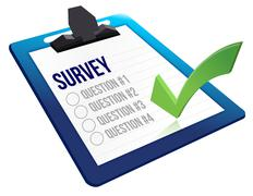 Survey and a list of questions Stock Illustration