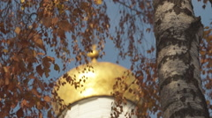 Ukraine, dome of ancient temples Stock Footage