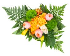 bouquet of fresh spring  flowers - stock photo