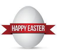 easter egg and banner - stock illustration