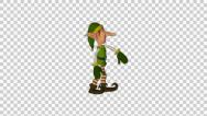 Stock Video Footage of Christmas Elf Hip Hip Dance Animated 3D Model With Alpha