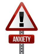 Stock Illustration of anxiety sign illustration design over a white background