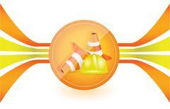 under construction illustration design - stock illustration