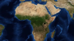 Congo / Congolian forest from space zoom Stock Footage