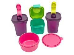 Storage plastic containers Stock Photos