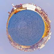 the spherical panorama - stock photo