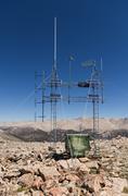 Mountain top radio antenna Stock Photos