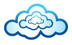 Cloud computing icon illustration design on a white background Piirros