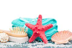 Sea spa setting border - stock photo