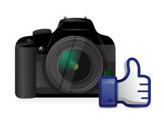 camera thumbs up like illustration - stock illustration