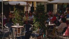 Spanish street life-  Cafe culture Stock Footage
