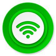 wifi icon, wireless network sign. - stock illustration