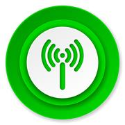 Wifi icon, wireless network sign.. Stock Illustration