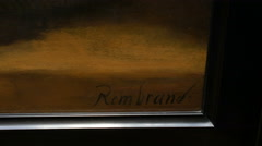 Rembrandt's signature Stock Footage