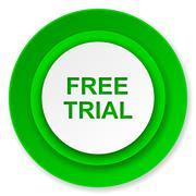 Free trial icon. Stock Illustration