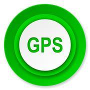 gps icon. - stock illustration