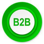 B2b icon. Stock Illustration