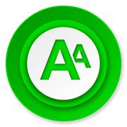 Alphabet icon. Stock Illustration