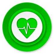 Pulse icon, heart rate sign. Piirros