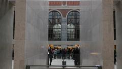 Lobby of Rijksmuseum Amsterdam Stock Footage