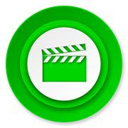 Video icon, cinema sign. Piirros