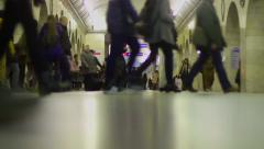 Crowd movement in subway Stock Footage