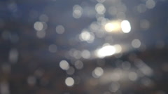 Sparkling fresh wavy water is shining on a sunny summer day. abstract blurry Stock Footage