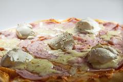 ham pizza - stock photo