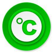 Celsius icon, temperature unit sign. Stock Illustration