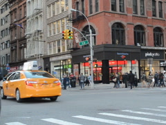 Taxi in New York. Related clips are in my portfolio in 1920x1080. - stock footage