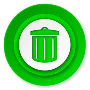 Recycle icon, recycle bin sign. Stock Illustration