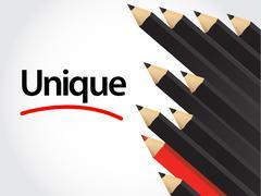 black pencils and red pencil in arrange - stock illustration